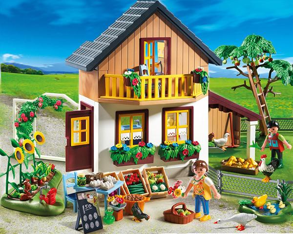 • Maison des fermiers et marché (réf. 5120) 98,90 €, Playmobil.  https://www.amazon.fr
