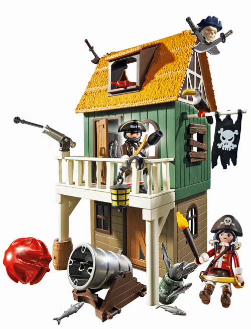 Fort des pirates camouflé avec Ruby, 39,90 €, Playmobil Super 4, www.playmobil.fr