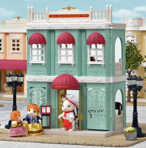 Delicious restaurant, Collection Town, Sylvanian Families, https://www.oxybul.com
