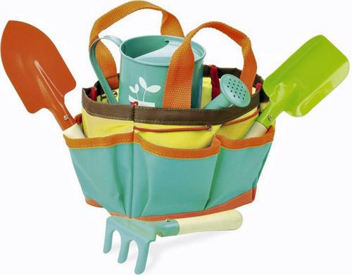 Mon petit potager, sac avec outils, Vilac, https://www.bonhommedebois.com