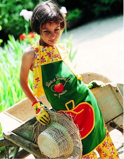 Tablier enfant « patate et pomme au jardin »Cityfarmer,  https://www.cityfarmer.fr