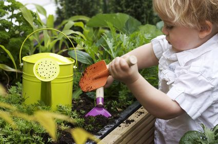 photo Enfant au jardin