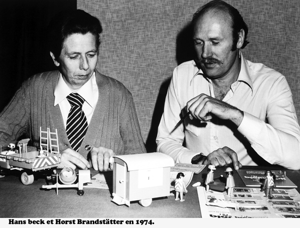 Hans beck et  Horst Brandstätter, les fondateurs de Playmobil